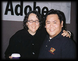 with Lynda Weinman